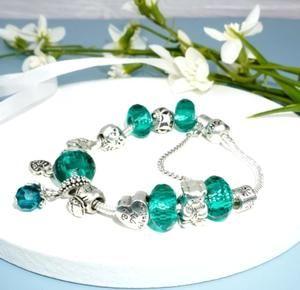 Pandora green cat claw bracelet
